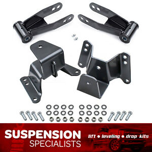 4 Rear Drop Lowering Hanger Shackle Kit For 1973 1987 Chevy C10 Gmc 2wd