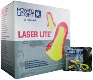Ll Laser Lite Disposable Ear Plugs Corded 100 Pair Howard Leight 5 Bxs Ms92265