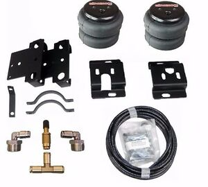 2001 10 Chevy 3500 Truck Tow Assist Over Load Air Bag Suspension Kit No Drill