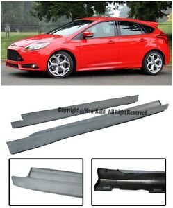 For 12 14 Ford Focus St Style Conversion Side Skirts Rocker Panels Extension