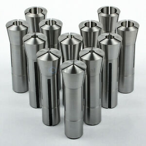 12 Piece High Precision Fractional R8 Collet Set 1 8 To 7 8 For Bridgeport