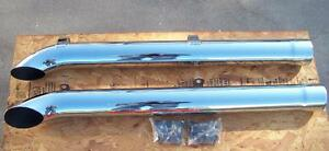 Corvette Replacement Hooker Chrome Side Pipes 1963 Thru 1974 New In Box Set 2