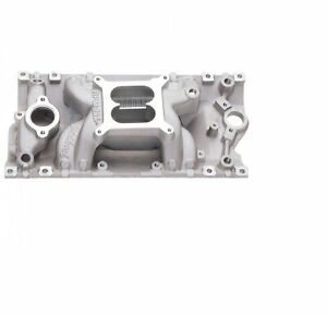 Edelbrock 7516 Rpm Air gap Vortec Intake Manifold For 262 400ci Sb Chevy V8