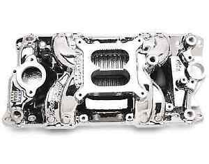 Edelbrock 75014 Rpm Air Gap Intake Manifold For 262 400ci Small Block Chevy V8
