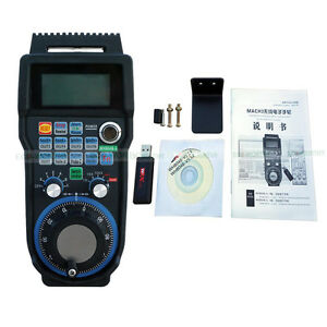 6 axis System Cnc Usb Wireless Remote Handheld For Mach3 Handwheel Hand Wheel Us