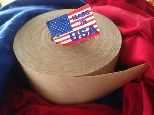 4 Roll 3 X 450ft Reinforced Gummed Kraft Paper Tape Made In The Usa big Save