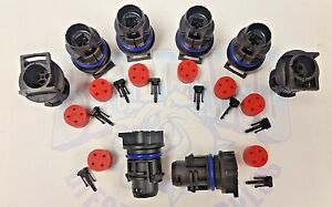 Set Of 8 6 0l Ford Powerstroke Diesel 2003 2010 Injector Connector Plug G2 8