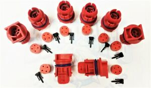 Set Of 8 2003 2010 Ford 6 0l Diesel Powerstroke Injector Connector Plugs Red