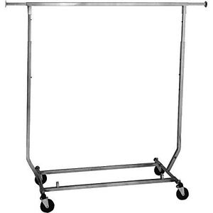 Econoco rcs 1 Collapsible Garment Rack 50 Length Steel polished Chrome