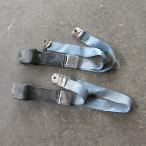 Beams Front Seat Belts Pr Blue Ford Chevy Mopar Pontiac Olds Street Rod Rat Rod