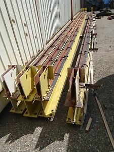 Two 43 Overhead Crane Beams With Rails 8 X 12