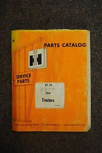International 354 Tractors Parts Catalog bt 19