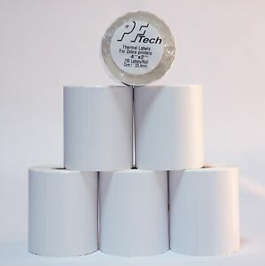 20 Rolls 4x2 Direct Thermal Shipping Labels 750 roll Zebra Lp2844