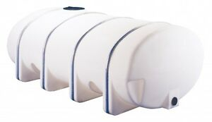 1635 Gallon White Elliptical Poly Tank 142 x 71 x 58 Container Water Chemical