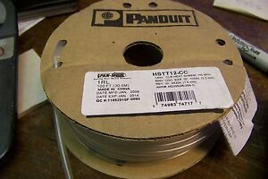 New Panduit Hstt12 cc 100 Ft 1 8 Clear Heat Shrink Tubing