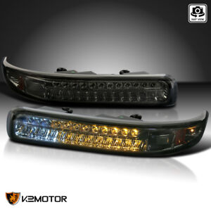 For 1999 2002 Silverado 2000 2006 Tahoe Suburban Smoke Led Bumper Signal Lights