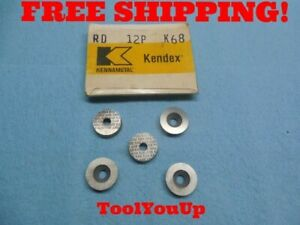 New 5 Pcs Kennametal Rd 12p K68 Round Inserts Toolmaker Machine Shop Tooling