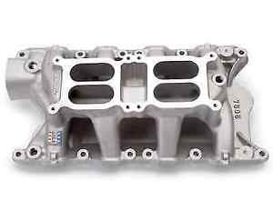Edelbrock 7585 Rpm Air gap Dual quad Intake Manifold For 351w Sb Ford V8