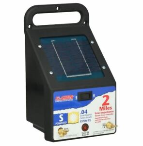Fi Shock 2 Mile Solar Powered Electric Fence Charger Energizer Pets Fencer