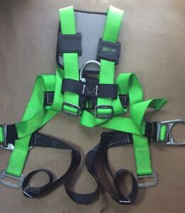Miller Hp 552 Green Universal Vest style Body Harness 552t ugk With Back Pad