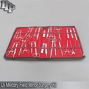 117 Pc Us Military Field Minor Surgery Surgical Veterinary Dental Instrument Kit