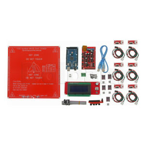 Ramps 1 4 A4988 Mega2560 R3 Lcd 12864 Kit For Arduino Reprap 3d Printer Us