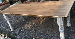 Great Large Harvest Table 35 X 84 Long Nice Patina