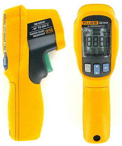 New Fluke 62 Max Ir Tough Thermometer With Laser Sight 3 Metre Drop Proof
