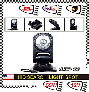 55w Spot Hid Xenon Magnetic 360 Search Work Light Remote Control For Fog Boat