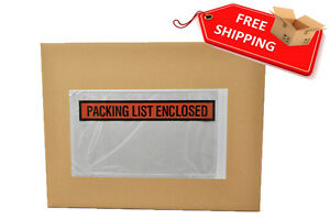 100000 Pcs 5 5 In X 10 In Packing List Enclosed Envelopes Panel Face