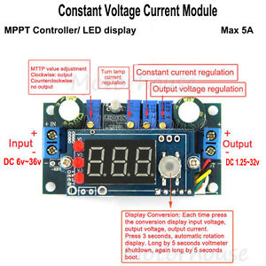 Mppt Solar Controler 5a Dc Step down Constant Voltage Current Module Led Display