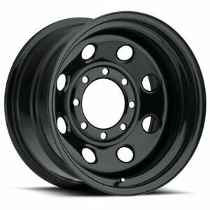 17 Vision Soft 8 Black 17x9 8x6 5 8 Lug Chevy Dodge Gmc Truck Wheel Rim