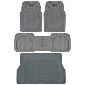 Motor Trend Car Floor Mats With Cargo Trunk Mat Set All Weather Heavy Duty 4 Pcs