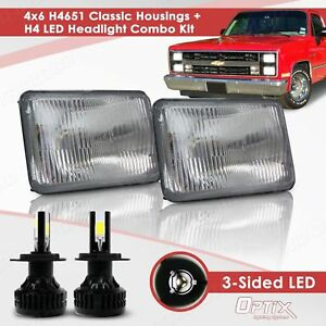 H4651 H4666 4x6 Sealed Beam Headlight Housing H4 Led Conversion Kit a