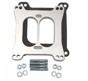 Edelbrock 8715 Aluminum Square bore 1 2 Thick Carburetor Spacer