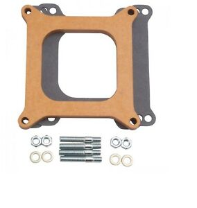 Edelbrock 8724 Wood Square bore 1 2 Thick Open Carburetor Spacer