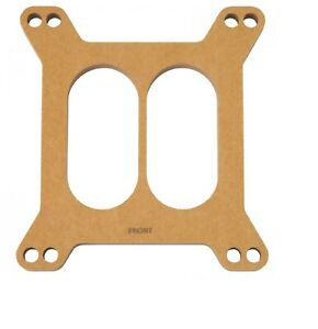 Edelbrock 8722 Wood Square bore 1 2 Thick Divided Carburetor Spacer