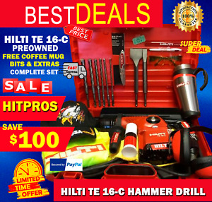 Hilti Te 16 c Hammer Drill L k Preowned Free Extras And Bits Fast Shipping