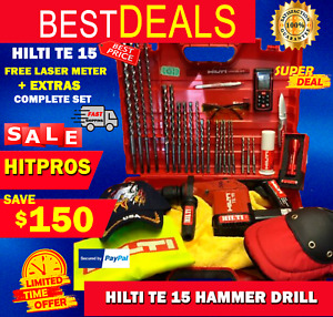 Hilti Te 15 Hammer Drill L k Made In Germany Free Extras Fast Shipping
