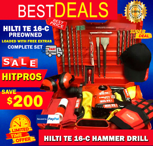 Hilti Te 16 c Drill L k Preowned Loaded With Free Extras Fast Shipping