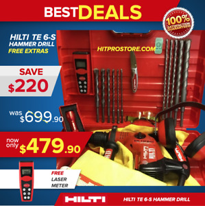 Hilti Te 6 S Preowned Excellent Condition Free Bits Knife Flashlight Laser