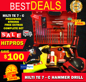 Hilti Te 7 c Hammer Drill L k Great Free Extras Strong Fast Shipping