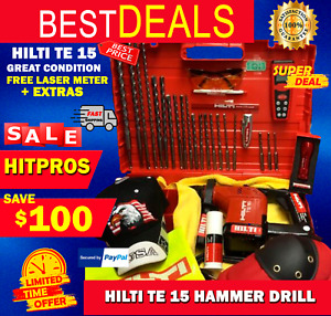 Hilti Te 15 Hammer Drill L k Great Condition Durable Free Extras Fast Ship