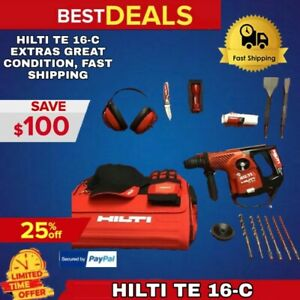 Hilti Te 16 c Preowned L k Loaded W Extras Great Condition Fast Shipping