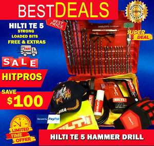 Hilti Te 5 Hammer Drill L k Free Extras Loaded Bits Strong Fast Shipping