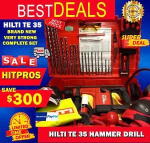 Hilti Te 35 Hammer Drill L k Brand New Very Strong Free Bits Fast Shipping
