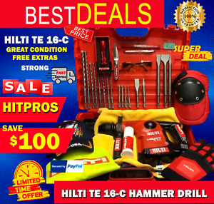 Hilti Te 16 c L k Great Condition Free Extras Strong Fast Shipping