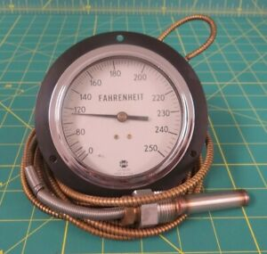 Us Gauge Thermometer W 13 ft Capillary Tube 0 250 Degrees F 6685 00 556 1896