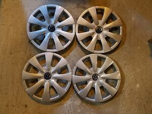New Set Of 4 Vw Volkswagen Hubcaps 15 Wheel Covers