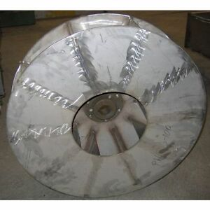 New York Blower Size 2610s Cw Stainless Pressure Blower Wheel
